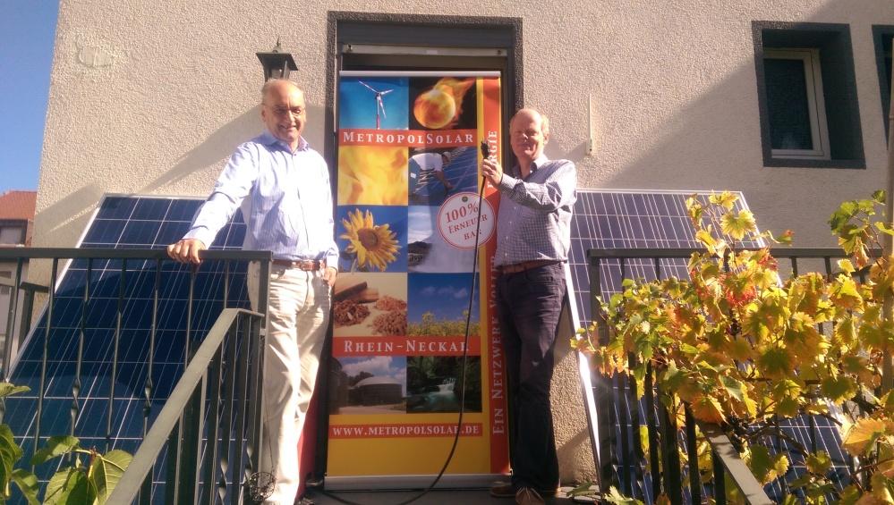 Robert Böhm and Daniel Bannasch (Metropol Solar). Guerrilla solar pioneers.